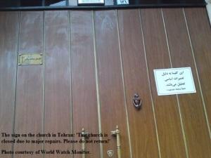World Watch Monitor May 30, 2013 Assemblies of God church in Tehran