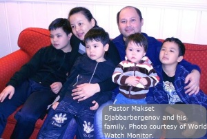 Pastor Makset and his family courtesy of World Watch Monitor